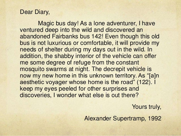 Diary of chris mccandless