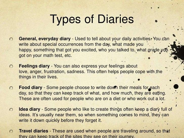 Diary Presentation 12 7