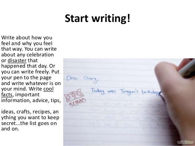 how to teach writing diary entries