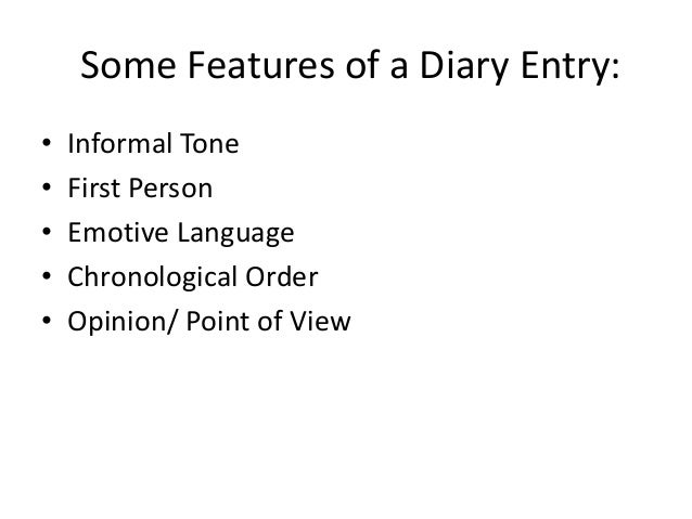 How to write a diary entries