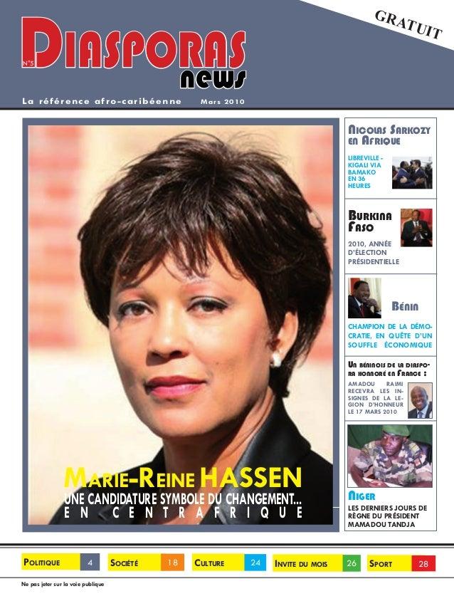 GratuitLa référence afro-caribéenneNe pas jeter sur la voie publiquePolitique 4 Invite du mois 26 Sport 28Culture 24Sociét...