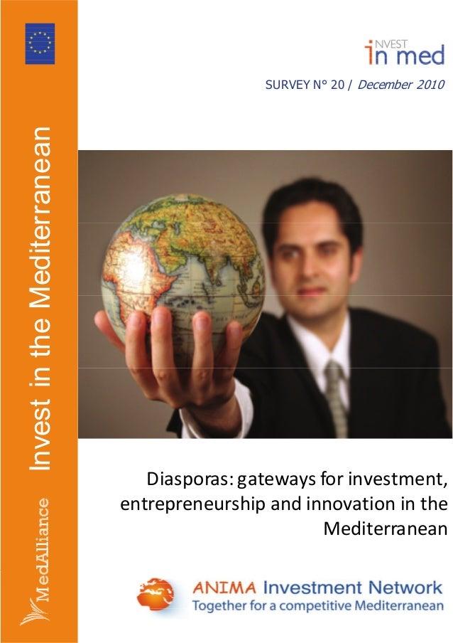 Startup BRICS presents Diasporas: Gateways to investment, entrepreneurship and innovation in the Mediterranean