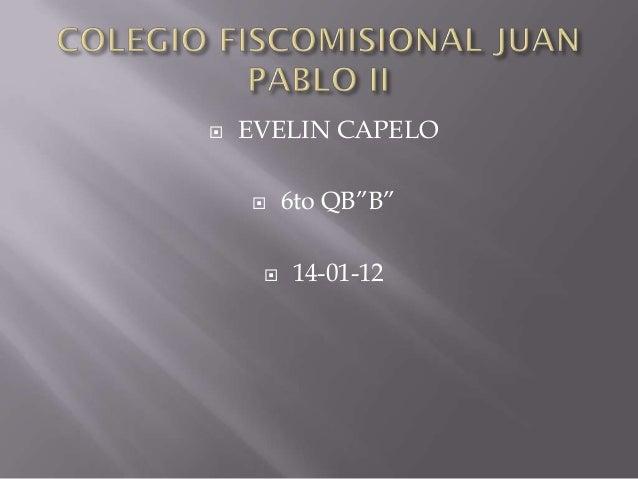 "   EVELIN CAPELO        6to QB""B""        14-01-12"