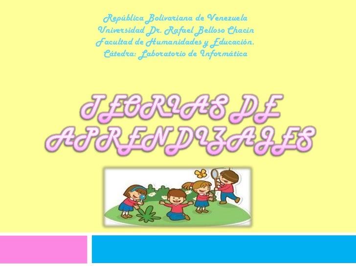 República Bolivariana de Venezuela<br />Universidad Dr. Rafael Belloso Chacín<br />Facultad de Humanidades y Educación.<br...