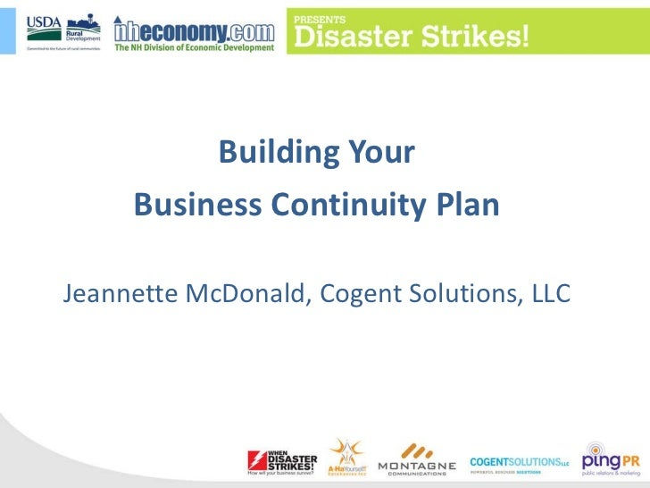 The Basics of a Business Continuity Plan