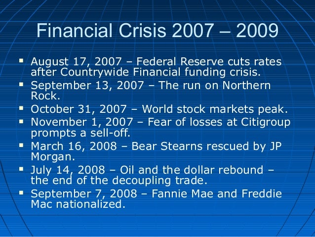 List of economic crises