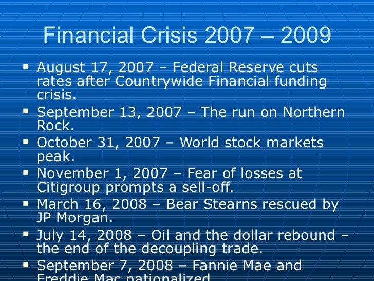 Financial crisis 2008 essay