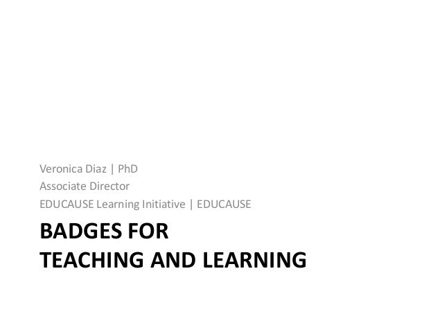 Badges for Teaching and Learning
