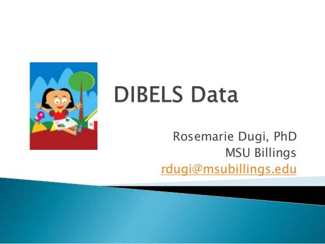 Dibels data