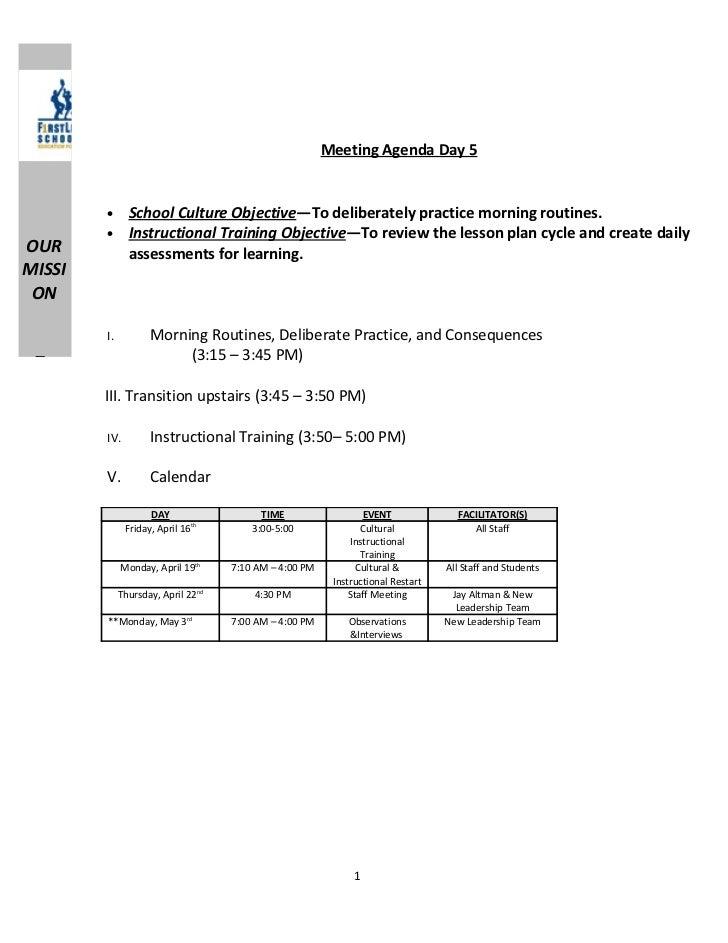 Dibert restart day 5 morning routines and instructional training