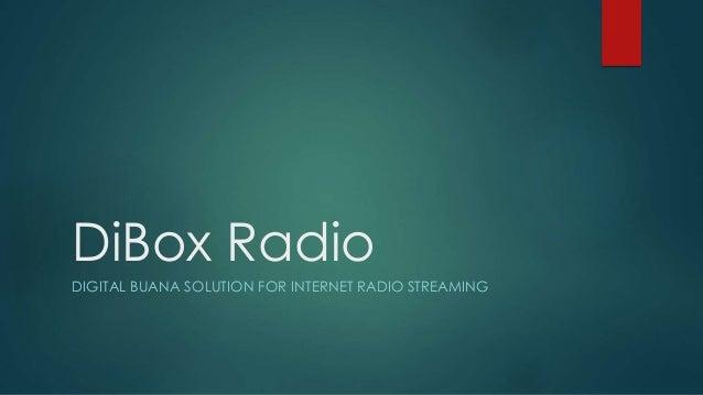 Internet Radio Management Brief Presentation