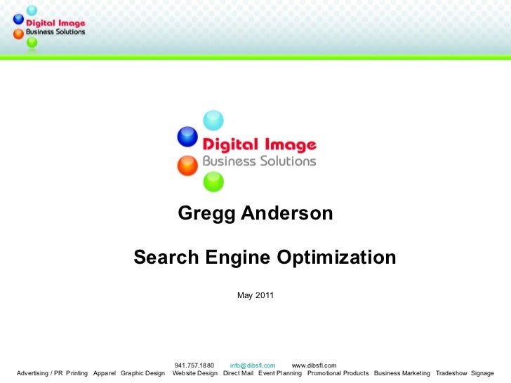 Gregg Anderson Florida Public Relations Association W Search Engine Optimization May 2011