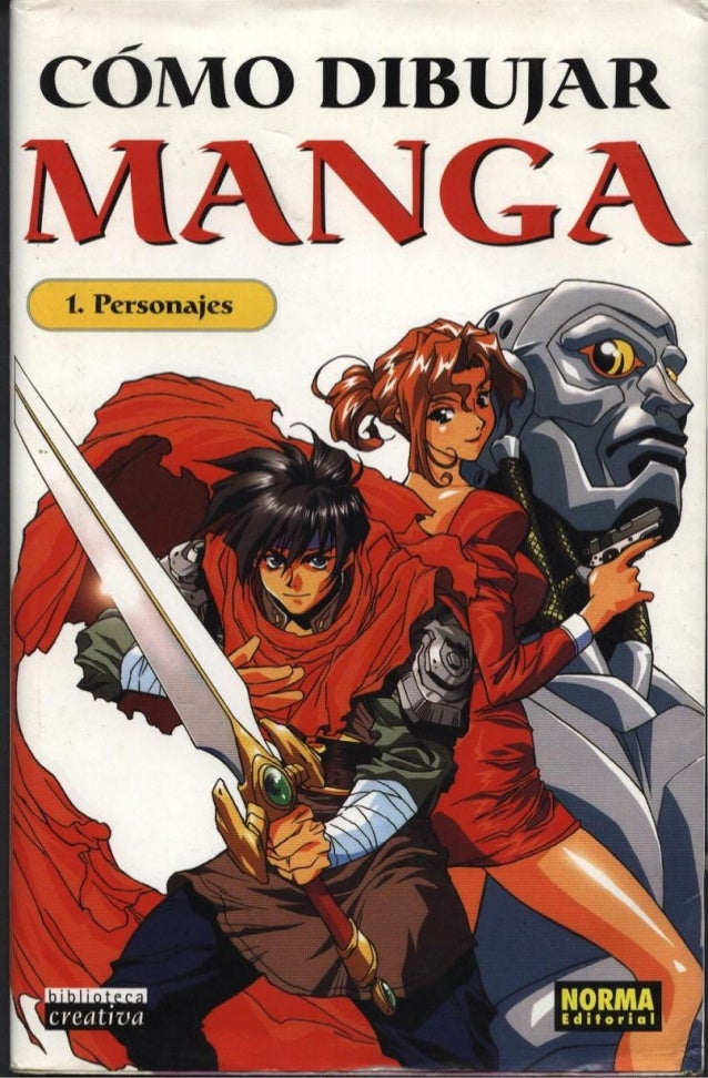 Dibujo   técnicas - cómo dibujar manga - libro 1 - personajes - 110 pag