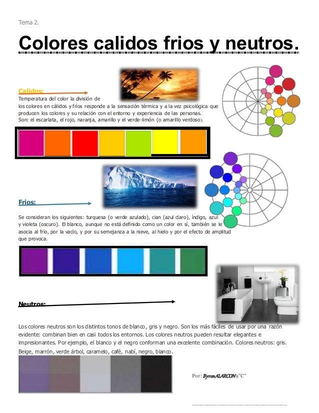 Artes pl sticas colores y poligonos - Los colores calidos y frios ...