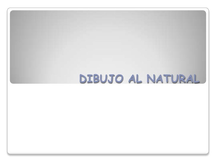 DIBUJO AL NATURAL<br />