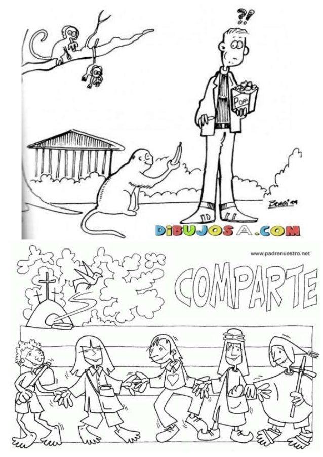 Dibujos para colorear generosidad