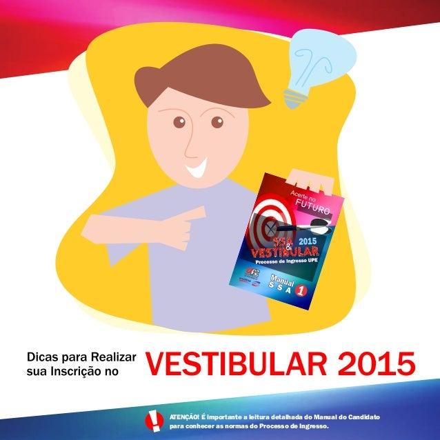 Vestibular UPE 2015 - Dicas para realizar a inscrição