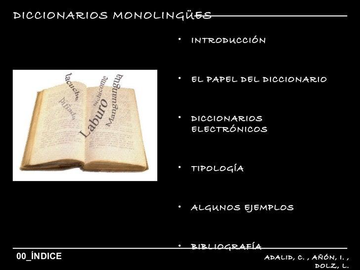 Diccionarios monolingües