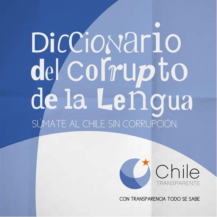 SÚMATE AL CHILE SIN CORRUPCIÓN.