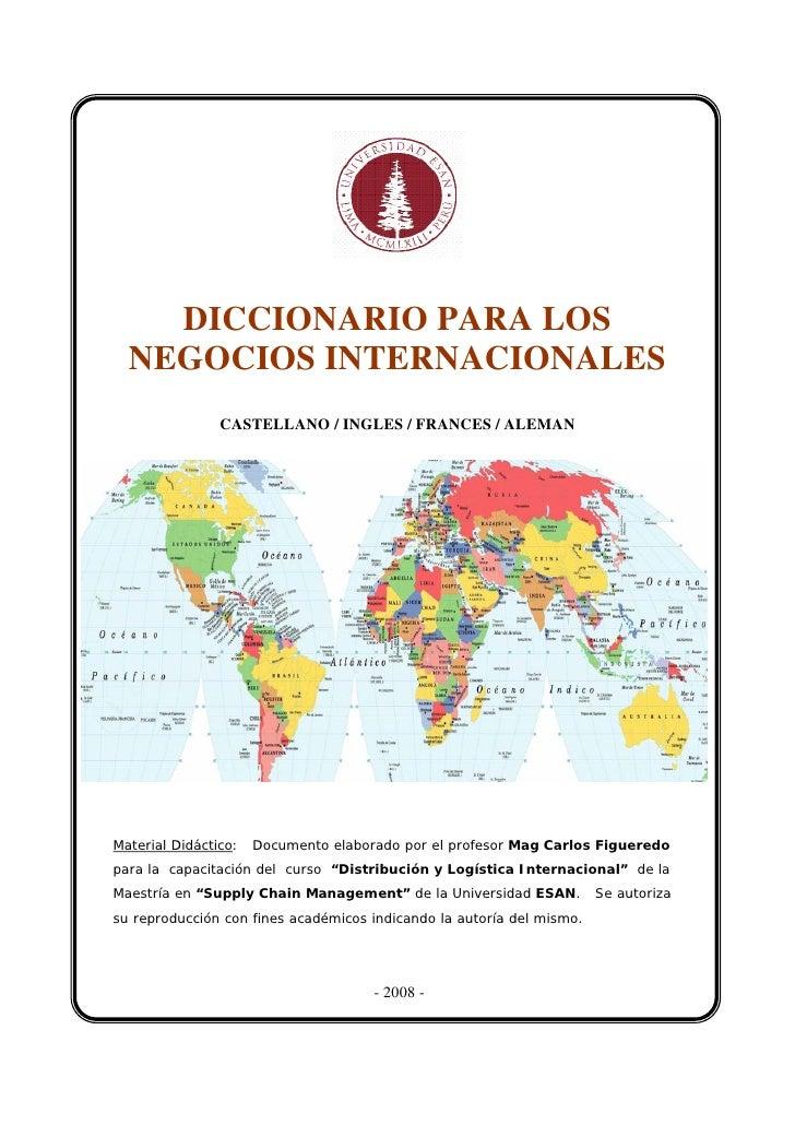 diccionario comercio exterior: