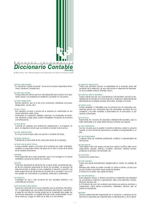 E M P R E S A I N F O R M A T I V A Diccionario Contable(Colombia) w w w. e h u . e s / d a n i e l g a r c i a / d o c e ...