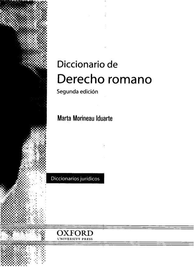 Diccionario de derecho romano (1)