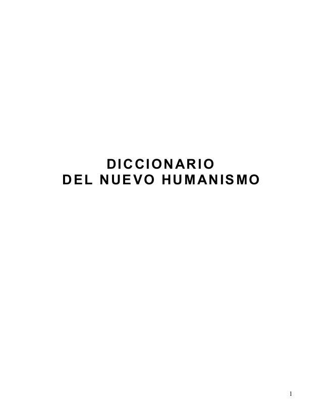 DICCIONARIO DEL NUEVO HUMANISMO 1