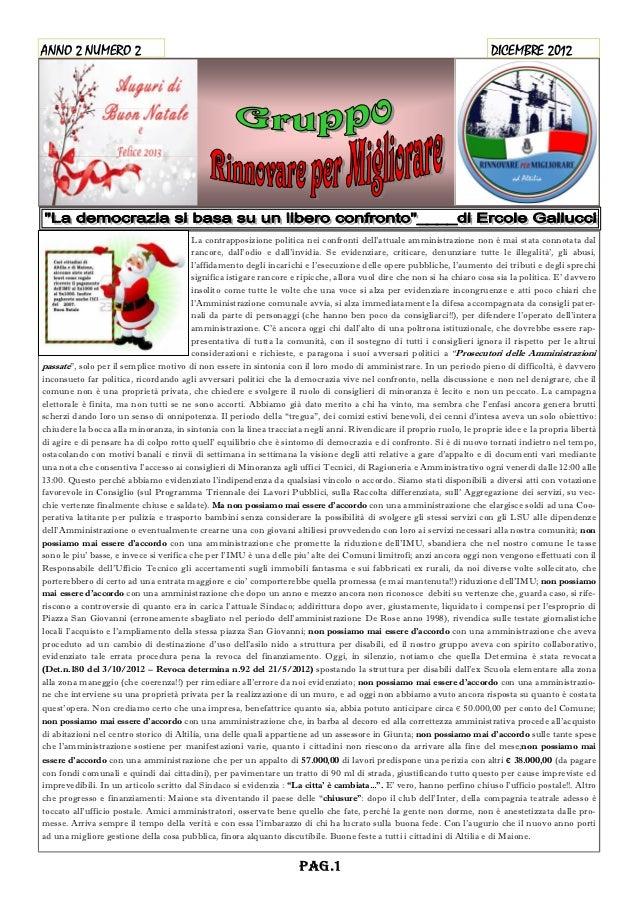 Bottettino Informativo Dicembre 2012