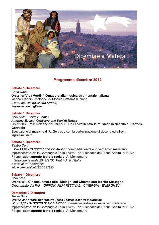 """Programma dicembre 2012Sabato 1 DicembreCasa CavaOre 21,00 Viva Verdi- """" Omaggio alla musica strumentale italiana""""Iacopo F..."""