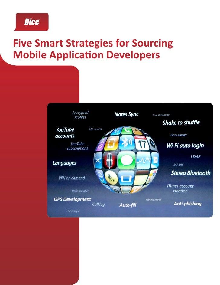 Five Smart Strategies for Sourcing Mobile Application Developers