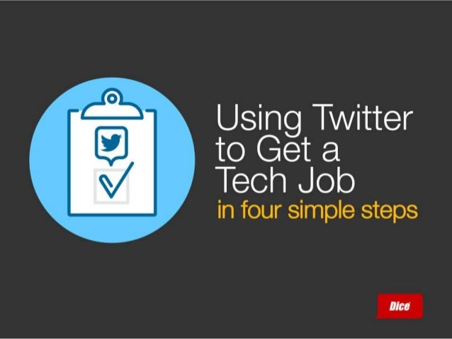 Using Twitter to Get a Tech Job