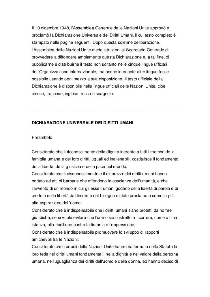 Dichiarazione unive