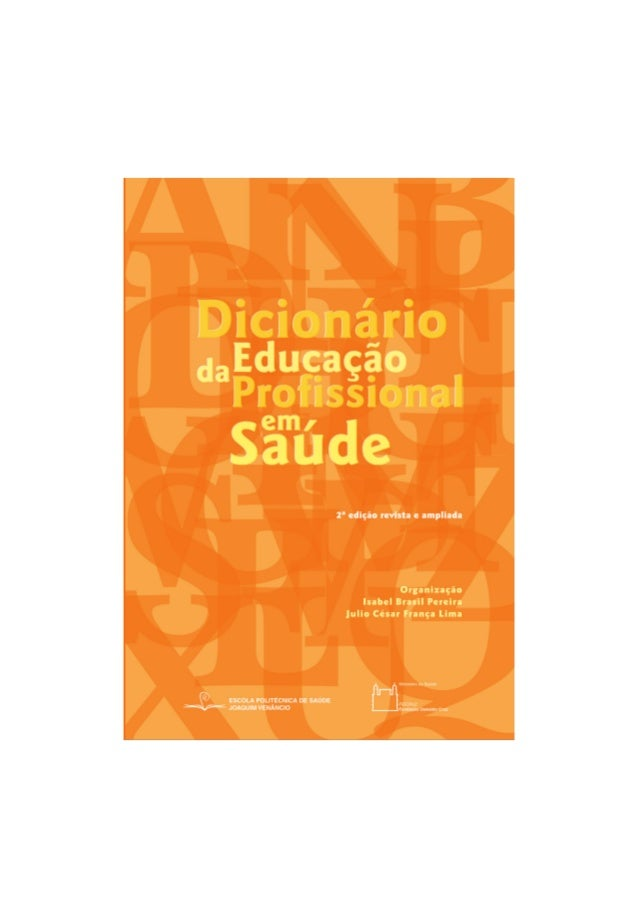 Dicionário da Educação Profissional em Saúde