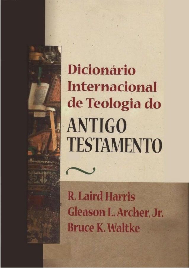Dicionário internacional de teologia do antigo testamento   parte 1