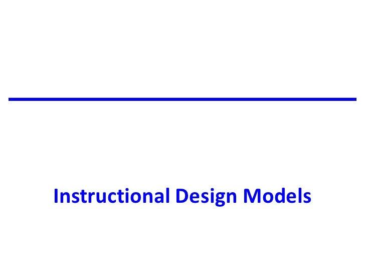 Instructional Design Models