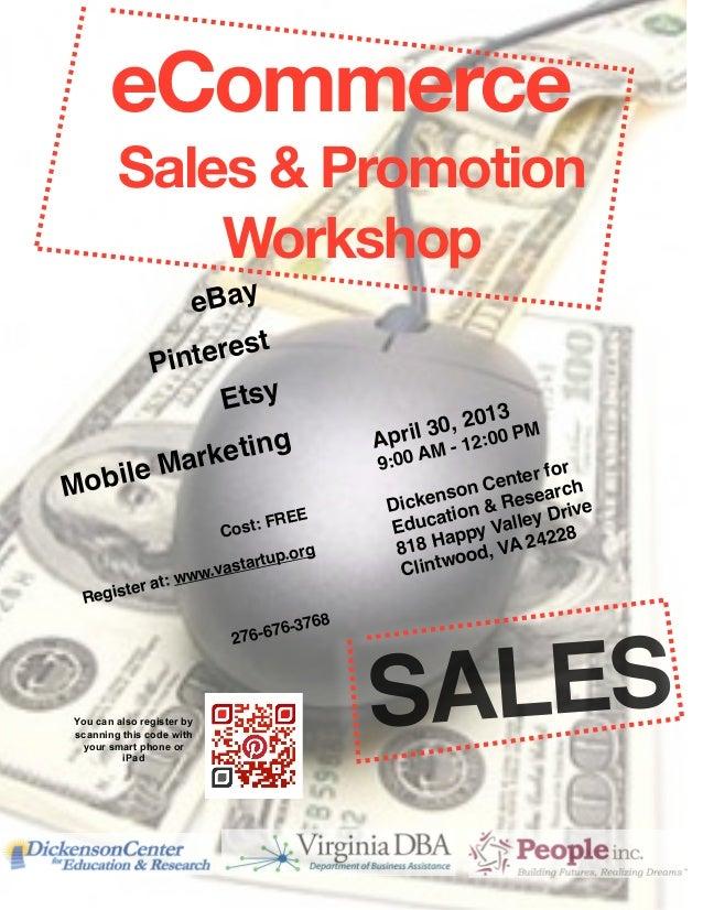eCommerce         Sales & Promotion             Workshop         e Bay                       Pint erest            Etsy   ...