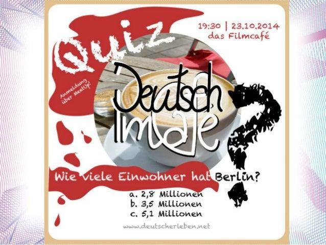 """Deutsch im Café  das Quiz!  """"raten"""""""