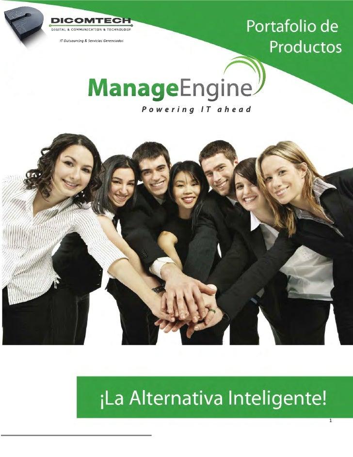 Dicomtech ManageEngine Portafolio 2012