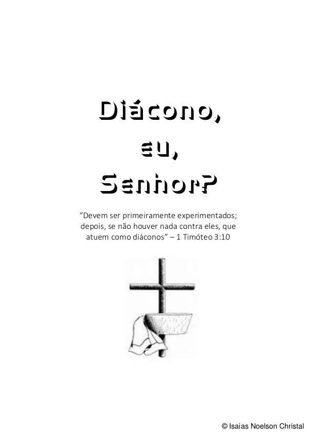 Diáconos apostila