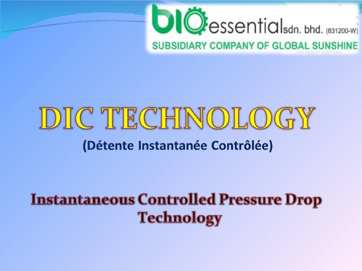 DIC Presentation On 6th August