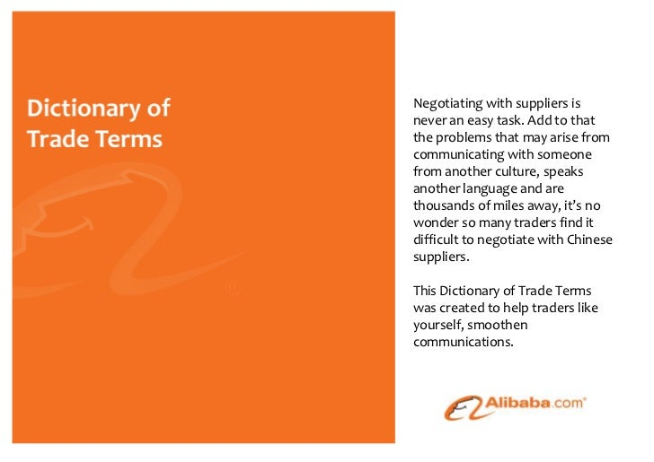 Dictionary of Trade Terms 2