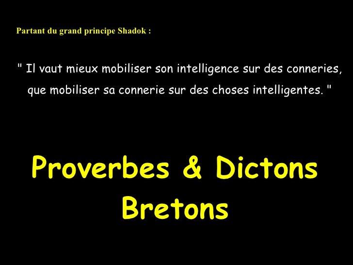 Dictons Bretons H
