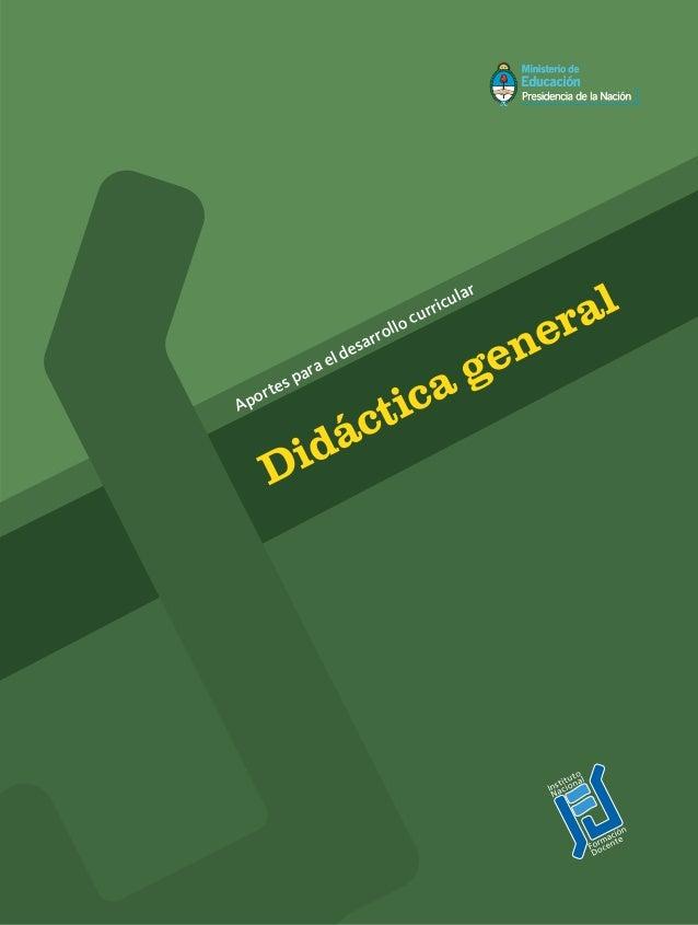 Aportes para el desarrollo curricular Didáctica general