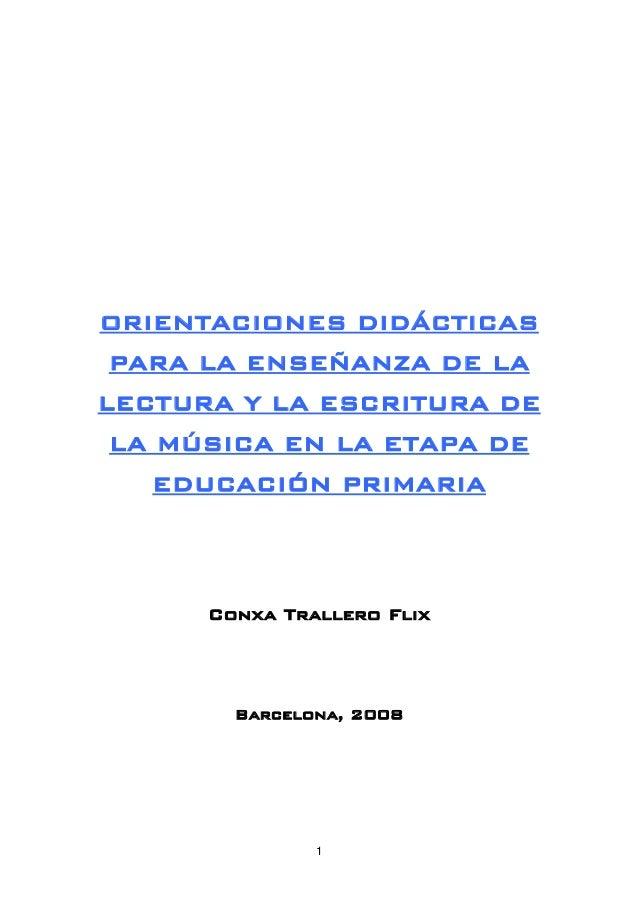 Didactica lenguaje musical
