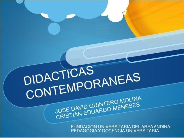 FUNDACION UNIVERSITARIA DEL AREA ANDINA.  PEDAGOGIA Y DOCENCIA UNIVERSITARIA