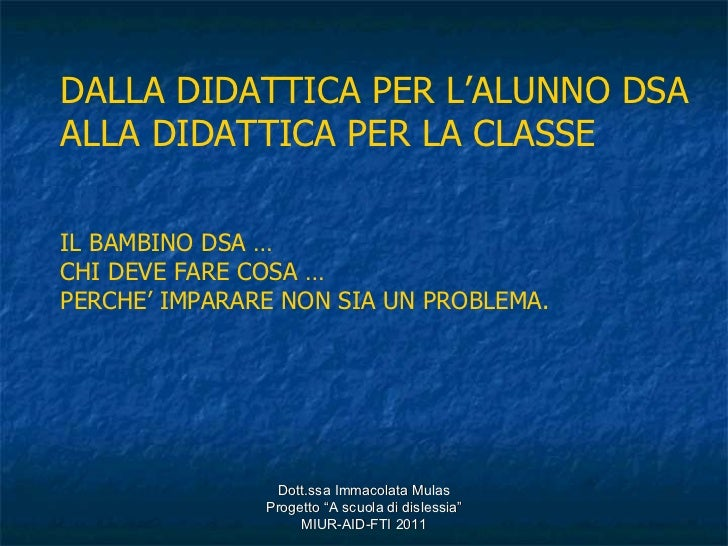 SARDEGNA - Didattica DSA didattica classe - Mulas
