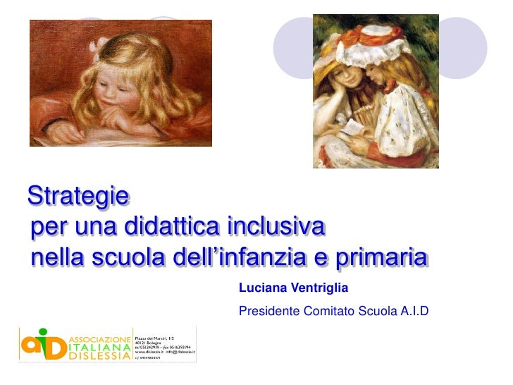 Didattica inclusiva, Abruzzo - Calabria, Ventriglia