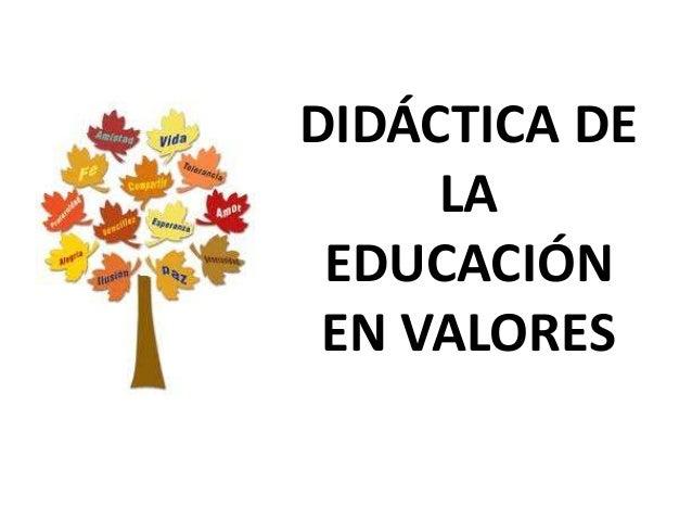 Didáctica de la educación en valores