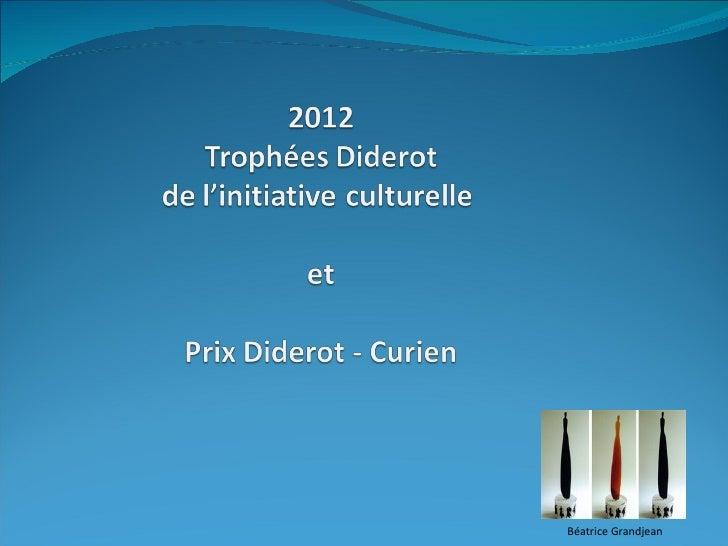 Les prix Diderots