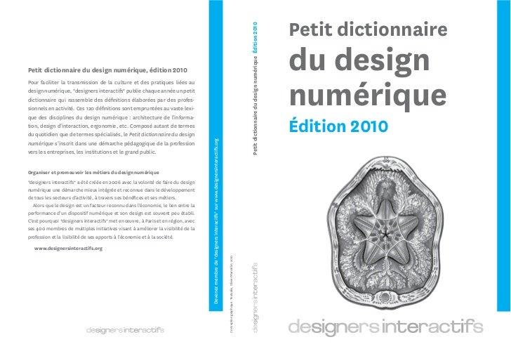 Un aperçu du Petit dictionnaire du design numérique